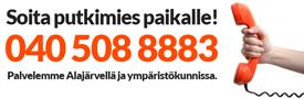 Putkiasennus Kosunen - soita 040 508 8883 ja tilaa putkimies paikalle alueella Alajärvi ja ympäristökunnat.